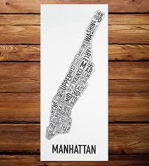 Portland Neighborhood Map Poster by Manhattan Neighborhood Map Art Print Features Local Pride Ork