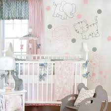 girls nursery bedding sets grey elephant crib bedding set home beds decoration