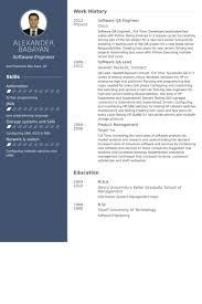 Software Developer Resume Samples by Qa Engineer Resume Samples Visualcv Resume Samples Database