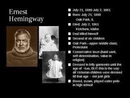 ernest hemingway life biography hemingway the life the legend the legacy biography power point