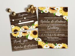 sunflower wedding invitations 16 sunflower wedding invitations for fall weddings mid