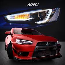 mitsubishi evolution 2017 amazon com vland led headlights for mitsubishi lancer evo x