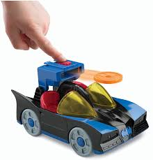 imaginext batmobile with lights amazon com fisher price imaginext dc super friends batmobile with