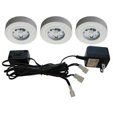 what is a puck light commercial electric 5 light led white ac puck light kit 21325kit wh