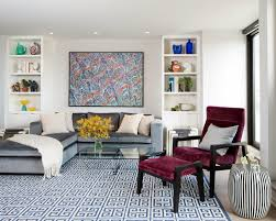Modern Geometric Rugs by Modern Colorful Living Room Idea Come With Grey Sofa Grey And With