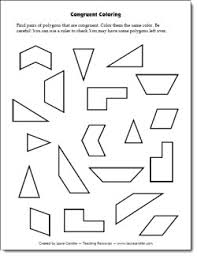 congruent coloring freebie students have to find pairs of