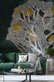 ochre tree wallpaper mural wallpaper designs design design and