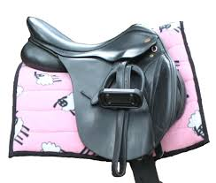 Horse Saddle by Horse Saddle Pad Pink Sheep From Snuggy Hoods Australia