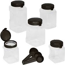 snapware airtight 10 piece plastic canister set warm metallic