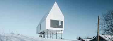 Landscape House Elevates High House Above Snow Covered Landscape In Quebec