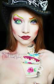Mad Hatter Halloween Costumes Girls Love Mad Hatter Makeup Crazy Contacts