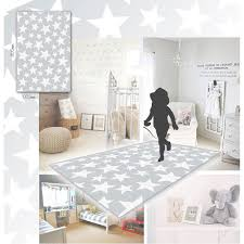 Star Rug Company Grey With White Stars Pattern Nursery Rug In Arts U0026 Crafts
