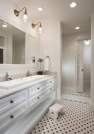 jack and jill bathroom bathroom traditional with marble counter