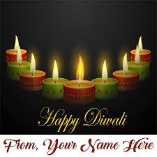 diwali cards lighting candles diwali cards name wishes image
