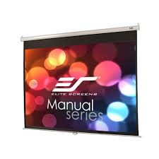 amazon com elite screens manual 100 inch 4 3 pull down