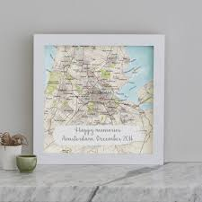 wedding gift map personalised treasured location map print wedding gift by bombus