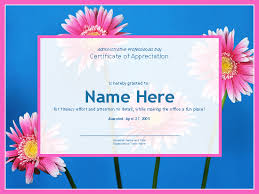certificate for administrative professional photo background