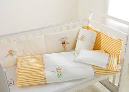 Yellow Crib Bedding Set White Yellow 100 Cotton Embroidery Lovely Bird Elves Baby
