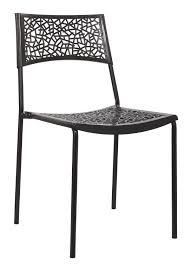 chaise cuisine noir chaise design métal pvc coloris noir lot de 6 simply chaise