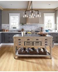 spectacular deal on deni wood and stone 60 inch kitchen island by