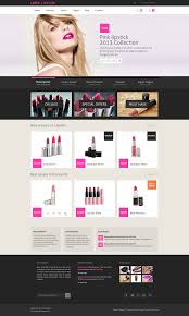 creative designs idea lipstick online shopping site design idea