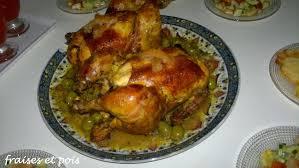 cuisine marocaine poulet aux olives poulet rôti à la marocaine entre fraises et petits pois