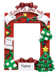 buy santa picture frame ornament personalized ornament