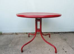 Patio Side Table Metal Metal Patio Table Offered On Ebay For 895 42 Vintage