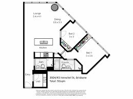Floor Plans Brisbane 3904 43 Herschel Street Brisbane City Qld 4000 Sold