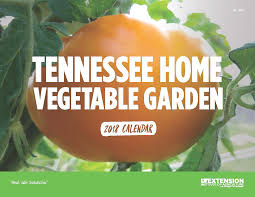 tennessee home garden vegetable calendar available for 2018
