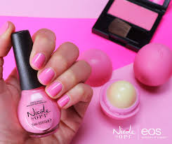 never enough nails eos lip balm and nicole by opi partner for