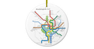 washington transit dc subway map underground ceramic ornament