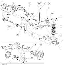 ford focus suspension diagram looking for to remove and replace a rear crossmember