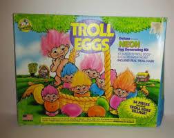 Easter Bunny Village Decorations by Trolls Easter Basket Etsy