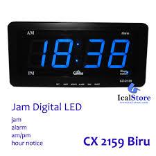 membuat jam digital led besar jam dinding digital led tipe 2159 biru ical store ical store