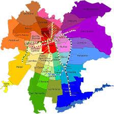 Santiago Metro Map by Mapa Comunas Metro