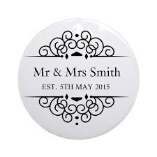 custom couples name and wedding date ornament rou by admin cp49789583