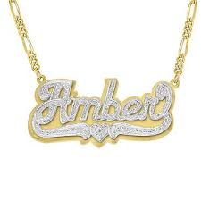 name plates necklaces gold fingerhut 18k gold plated silver 3d name plate necklace