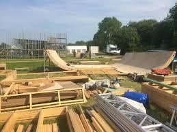 lexus hoverboard demo greenpeace skate park taking shape at glastonbury festival