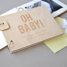 personalised baby shower guest book by clouds and currents