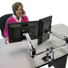 multi monitor mounts use multiple monitors at your desk ergotron