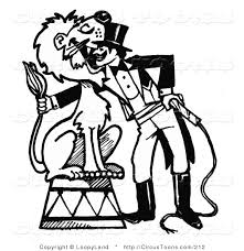 circus clipart of a black and white sketched circus ringmaster