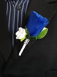 boutonniere cost boutonniere royal blue white with white mini