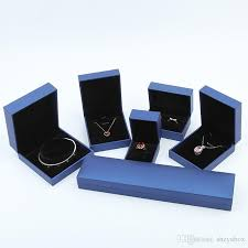 necklace boxes images Simple jewelry gift packaging box plastic leatherette paper coat jpg