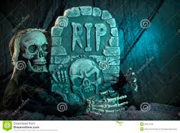 skull monster and tombstone royalty free stock images image