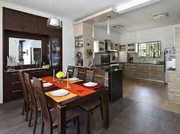 interior design for kitchen and dining dining area open kitchen with wooden furniture design by