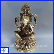 resin bronze ganesh murti statue ornament gift golden ganesh for