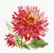 cross stitch corner alisa dahlia