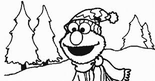 elmo christmas coloring pages learn coloring
