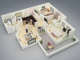 25 more 2 bedroom 3d floor plans spacious house luxihome